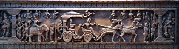 Bas relief indien